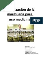 Legalización de  la marihuana para uso medicinal