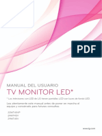 LG Manual TV LED