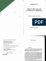 Umberto Eco (1999). Arte y Belleza en la Estética Medieval. 2 ed. Barcelona, Lumen.