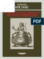 Sobre Las Falsas Creencias Del Suicidio, La Inmortalidad Del Alma y Las Supersticiones - Hume, David