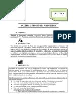 7. Analiza Si Descrierea Posturilor