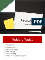 Lecture8-Marketrisk