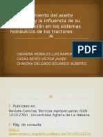 Comportamiento Del Aceite Hidráulico y La Influencia De