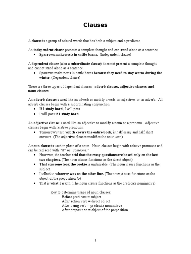 worksheet Adjective Clause Worksheet Fiercebad Worksheet And – Noun Clauses Worksheet