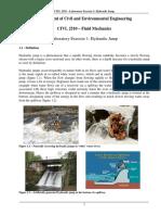 CIVL 2510 - LAB1 - Hydraulic Jump