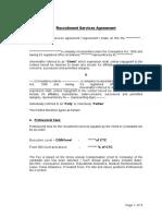 Recruitment Service Agreement_SLA_ Example 1