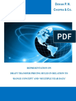 Representation on Draft Transfer Pricing Rules in Relation to Range Concept Multi Year Data