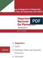 20150219 Rol Del Desarrollo Productivo en El PND 2014-2018