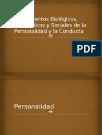 Fundamentos Biológicos, Psicológicos y Sociales de La