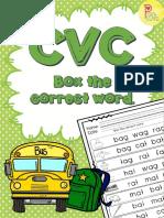 CVC Box the Correct Word.