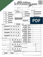 [D&D 4.0] Ficha de Personagem - Biblioteca Élfica