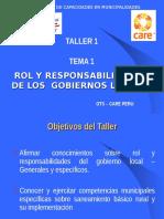 Rol Municipal - Taller 1, Tema 1