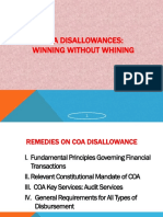 Remedies on COA Disallowance