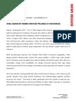 news release - peresmian LOBP (Lube Oil Blending Plant) shell indonesia