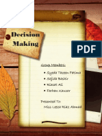 Decision Making Project Report
