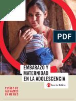Estado de Las Madres en Mexico, Embarazo y Maternidad Adolescente