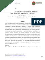 Internal Governance Mechanisms and Firm Performance the Case of Vietnam