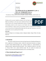 International Intellectual Property Law-A Study on Gyrinops Walla