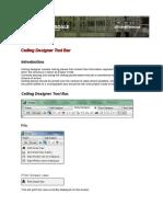 Chapter 5 Ceiling Designer Tool Bar