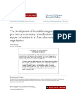 The Development of Financial Management Practices as a Necessary