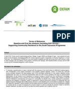 Oxfam - ToR KAP and Baseline and Endline Analysis 2016-2017#