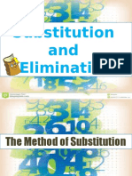 substitution and elimination  2