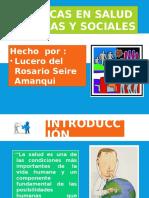 Politicas Publicas y Sociales en Salud