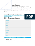 Civil Engineer Career