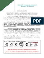 NOTA DE PRENSA MANIFESTACIÓN EN ALGECIRAS