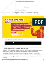 Concurso Cultural Para Escolas Shakespeare Hoje _ British Council
