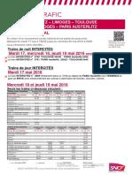 Prévisions SNCF 19 mai