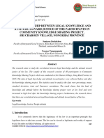 The Relationship Between Legal Knowledge and Attitude Toward Justice of the Participants in Community Knowledge Sharing Project