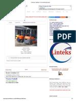 Forklift Bekas_ Toyota 5fd25 Sold