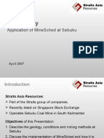 Case Study - MineSched at Sebuku