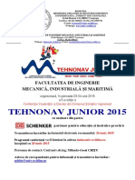 Invitatie Tehnonav Junior 2015