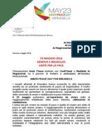 Invito 23 Maggio Genova Bruxelles