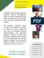 Numéro 1 de La Lettre d'Info Du Groupe Des Régionalistes Région Bretagne Version Française