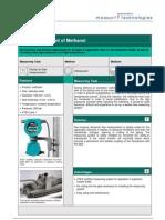 MeasurIT Flexim ADM8027 Application Methanol 0809