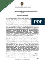 LEY ORGÁNICA DE RECURSOS HÍDRICOS, USO Y APROVECHAMIENTO DEL AGUA