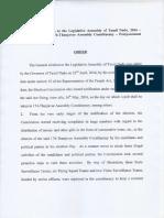 Tamil Nadu election rigging commission postponement order