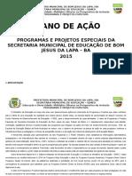 Plano de Ação Do Setor de Programas e Projetos Especiais