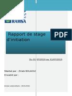 Rapport de Stage Ramsa