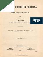 Ion Nistor - Romanii si rutenii din Bucovina.pdf