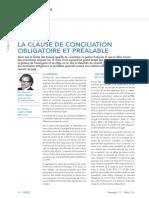 La clause de conciliation obligatoire et préalable.pdf