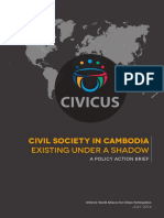 Civil Society in Cambodia- Existing Under a Shadow