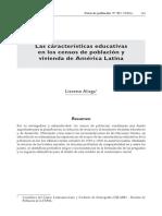 Las características educativas en los censos de población y vivienda de América Latina