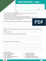 Ensino Fundamental Provas Bimestrais 2014 7o Ano Prova Bimestral 3 Ingles
