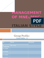 Culture and Management Practice of Italy