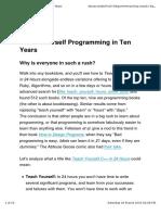 Teach Yourself Programming in Ten Years