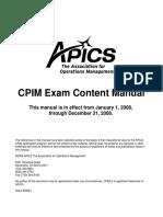 2008 CPIM Exam Content Manual